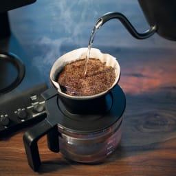 「カフェ・バッハ」 田口護氏監修 全自動コーヒーメーカー3杯用 (TWINBIRD CM-D457B) ミルで豆を挽くだけの機能を使用し、ご自身でハンドドリップを楽しむことも可能です。