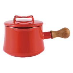 DANSK/ダンスク コベンスタイル ホーロー鍋 片手鍋 径13cm(容量1.07L) (ア)チリレッド