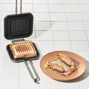 家事問屋 IHでも使える ホットパン ホットサンドメーカー 写真