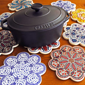 iznik トリベット トルコ製の鍋敷き 写真