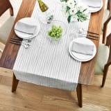 60×240cm(撥水加工 ジャカード織の幅広テーブルランナー) 写真