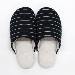 東洋紡「銀世界®」使用 抗菌スリッパ ソフティ2 色とサイズが選べる2足組 (サ)Mブラックボーダー