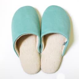 東洋紡「銀世界®」使用 抗菌スリッパ ソフティ2 色とサイズが選べる2足組 (ウ)Mライトグリーン