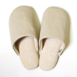 東洋紡「銀世界®」使用 抗菌スリッパ ソフティ2 色とサイズが選べる2足組 (エ)Mベージュ