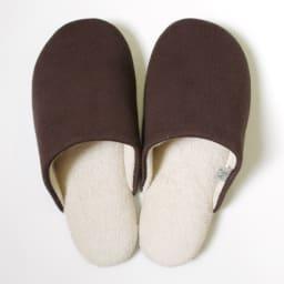 東洋紡「銀世界®」使用 抗菌スリッパ ソフティ2 色とサイズが選べる2足組 (オ)Mブラウン