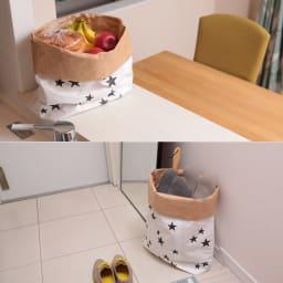 日本のお米屋さんが作った北欧風ペーパーバッグ キッチンカウンターで果物やパン、シリアルを入れたり、玄関でスリッパを入れたりしても。