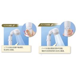 節水シャワーヘッド3Dアース 手元ストップ・抗菌モデルPRO[プロ] 【使用イメージ】 ※実際にお届けする商品のカラーは「ブラウン」です。