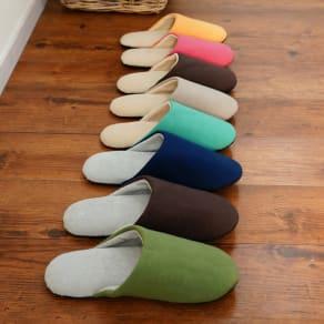 東洋紡「銀世界®」使用 抗菌スリッパ ソフティ2 色とサイズが選べる2足組 写真