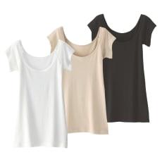 コットンシルク混汗取りインナー色とサイズが選べる2枚組