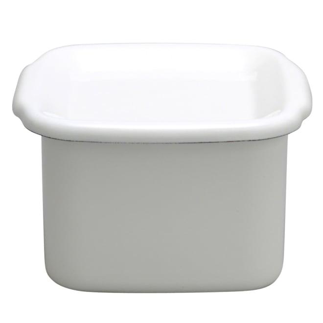 野田琺瑯ホワイトシリーズ スクウェアM・琺瑯蓋 だし・スープ4人前。煮物・佃煮の保存に。容量約0.8リットル
