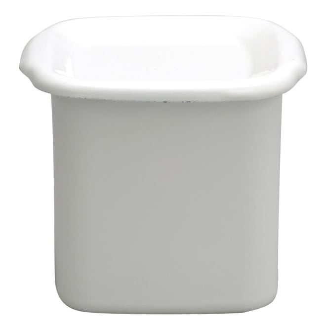 野田琺瑯ホワイトシリーズ スクウェアL・琺瑯蓋 牛乳1リットル分のヨーグルト作りに。味噌1kg、だし6人前、スープの保存に。容量約1.2リットル
