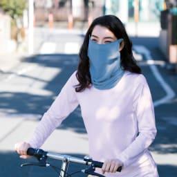 内側シルクガーゼのUVカットマスク 同色2枚組 (お休みマスク) (イ)ラベンダーブルー 新色