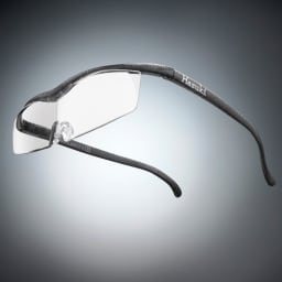 眼鏡型拡大鏡 ハズキルーペ コンパクト 1.6(ブルーライトカット 35% クリアレンズ) (イ)ブラックグレー