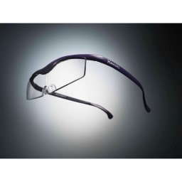 眼鏡型拡大鏡 ハズキルーペ コンパクト 1.6(ブルーライトカット 35% クリアレンズ) (カ)パープル…上品なパープルはエレガントに。