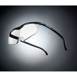 眼鏡型拡大鏡 ハズキルーペ ラージ1.6(ブルーライトカット35%  クリアレンズ) (カ)ブラック…シックなブラックは男性にも人気です。※フレーム色見本