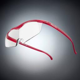 眼鏡型拡大鏡 ハズキルーペ ラージ1.6(ブルーライトカット35%  クリアレンズ) (ウ)ルビー