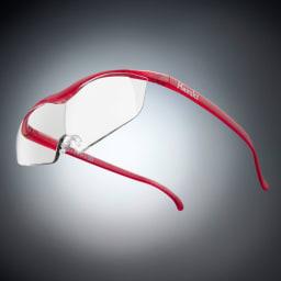眼鏡型拡大鏡 ハズキルーペラージ1.6(ブルーライトカット55% カラーレンズ) (ウ)ルビー※フレーム色見本