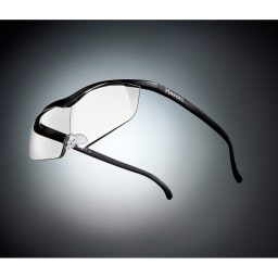 眼鏡型拡大鏡 ハズキルーペ ラージ1.85(ブルーライトカット35% クリアレンズ) (カ)ブラック…シックなブラックは男性にも人気です。※フレーム色見本