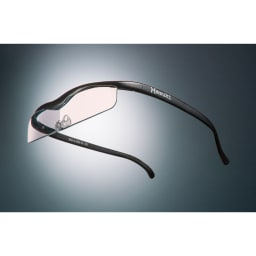 眼鏡型拡大鏡 ハズキルーペクール1.6(ブルーライトカット55% カラーレンズ) (ウ)ブラック