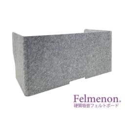 フェルメノン 高密度吸音フェルト製 デスクパーテーション 背面:幅100cm(ワイドサイズ)