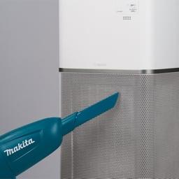 象印 空気清浄機 吸気口の汚れは掃除機で。フィルターは交換するだけで、面倒なお手入れ不要。