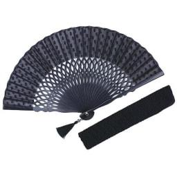 白竹堂 扇子「ペイルドロップ」 (ア)ブラック フォーマルブラック シックなブラックはフォーマルシーン
