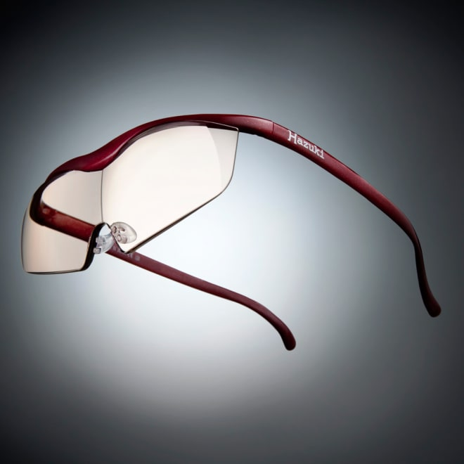 眼鏡型拡大鏡 ハズキルーペラージ1.85(ブルーライトカット55% カラーレンズ) (ア)レッド ※フレーム色見本