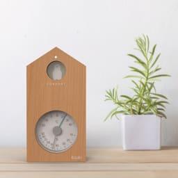 ハトが知らせる温湿度計 「kuuki」 (ア)ナチュラル