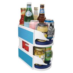 冷蔵庫内調味料ラック 2個スタッキング可能。