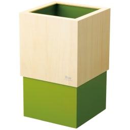 ヤマト工芸 キューブダストボックス (ウ)グリーン