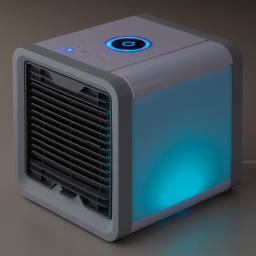 ミニ冷風扇 7色ランダムまたは1色でのライトアップも可能。