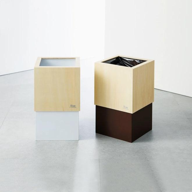 ヤマト工芸 キューブダストボックス 左から(ア)ホワイト、 (イ)ブラウン