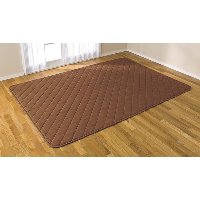 はっ水生地 こたつ敷き 正方形・長方形(厚さ約2cm) (イ)ブラウン