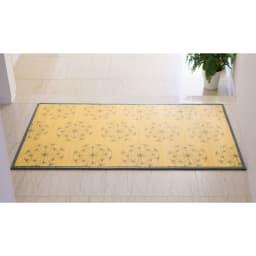 SCANDINAVIAN PATTERN COLLECTION 竹プリントラグ&マット (ア)ブルーグレー ※写真は70×120cmです。