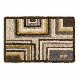 ミラ・ショーン玄関マット〈メイズ〉 (イ)ブラウン系 ※写真は約50×80cmサイズです。