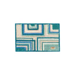 ミラ・ショーン玄関マット〈メイズ〉 (ア)ブルーグリーン系 ※写真は約50×80cmサイズです。