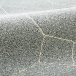 ベルギー製 Caldano/カルダノ ウィルトン織ラグ [素材アップ]ブルーグレー 程よい毛足の長さと、しっかりとした踏み心地のラグです。