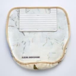 デザイナーズギルドトイレタリー〈ファイアンス〉 フタカバー単品 フタカバー裏は吸着シート付でズレにくい仕様