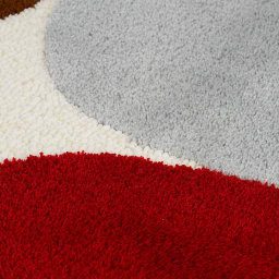 IVANA HELSINKI/イヴァナ・ヘルシンキ 玄関・キッチンマット〈ヘルシンキヒルズ〉 [素材アップ](イ)レッド系
