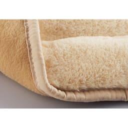 とろふわ遮熱あったか省スペースこたつシリーズ こたつ掛け 丸形 (ア)アイボリー 裏面はやわらかいフリース素材。