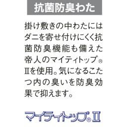 ふっくら贅沢ボリューム 省スペースこたつ掛け布団 【7円形】丸型・径180cm
