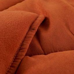 ふっくら贅沢ボリューム 省スペースこたつ掛け布団 【7円形】丸型・径180cm (キ)オレンジ