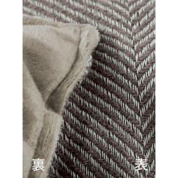 ヘリンボーンこたつ掛け布団 【1正方形】195×195cm 素材アップ(ア)グレージュ