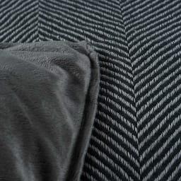 ヘリンボーンこたつ掛け布団 【1正方形】195×195cm 素材アップ(ウ)ダークグレー