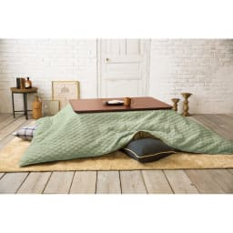 軽量あったかヌードこたつ掛け布団 使用イメージ:長方形