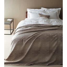 Beata ビアータ ホテル仕様ジャカード織ベッドスプレッド [コーディネート例]グレーベージュ ※お届けはベッドスプレッドです。