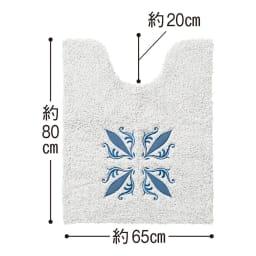 サフィー トイレタリー フタカバー(洗浄暖房器用)・マットセット [大判トイレマット] (ア)ブルー系