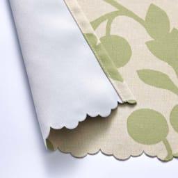 目隠し1級遮光・はっ水カフェカーテン 対応窓幅70~110cm(生地幅144cm) (イ)グリーン