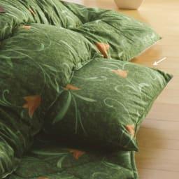 京都西川はっ水こたつシリーズ 座布団カバー(同色5枚組) 55×59cm (イ)グリーン