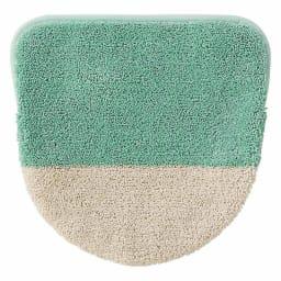 北欧調抗菌防臭吸水トイレタリー フタカバー(洗浄暖房器用)・マットセット (イ)グリーン系